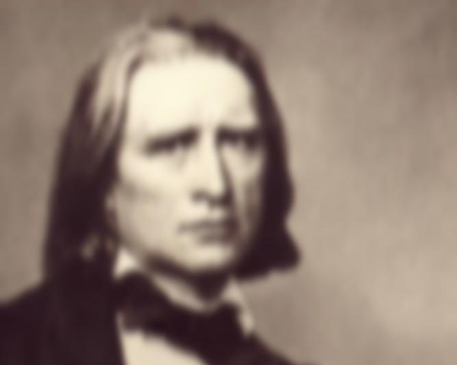 Liszt unscharfer Kopf breit